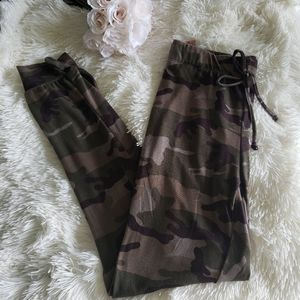 New Camouflage Joggers W/Pockets Lounge Pant M